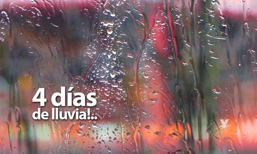 Cuatro días de lluvia a partir de este jueves en Baja California