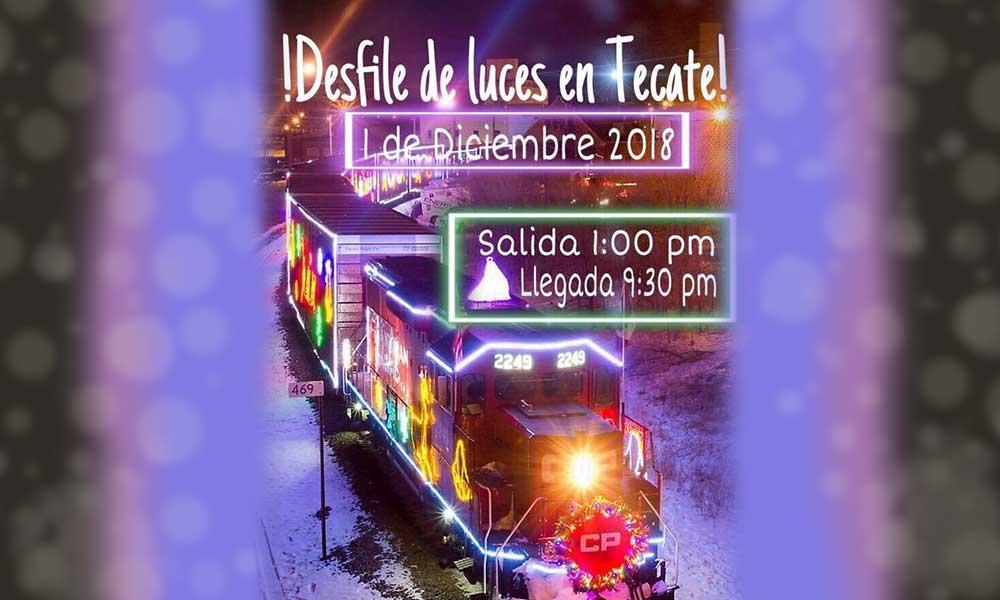 Invitan al tren de las luces, paseo turístico decembrino Tijuana – Tecate