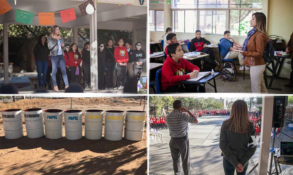 Arranca Regidora Diana Vázquez el 'Programa Escolar de Separación y Reciclaje de Residuos' en secundarias de Tecate