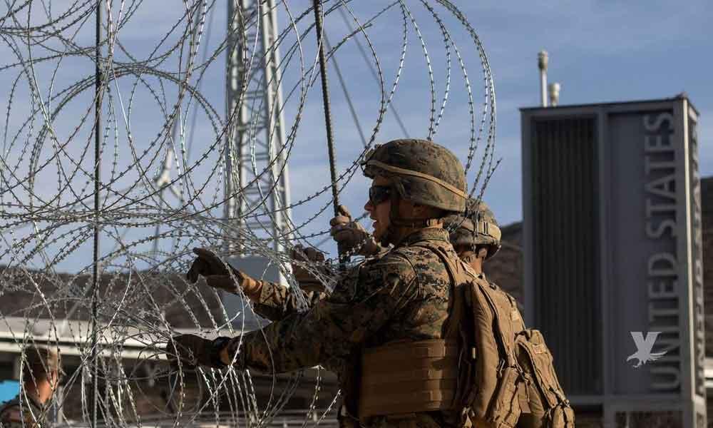 Secretario de Defensa dice que la militarización de la frontera es como preparase para la guerra