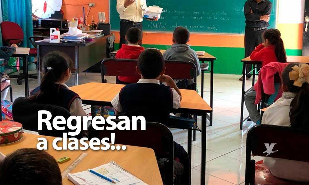 Reanudarán clases y actividades en oficinas Estatales, maestros reciben pago este jueves