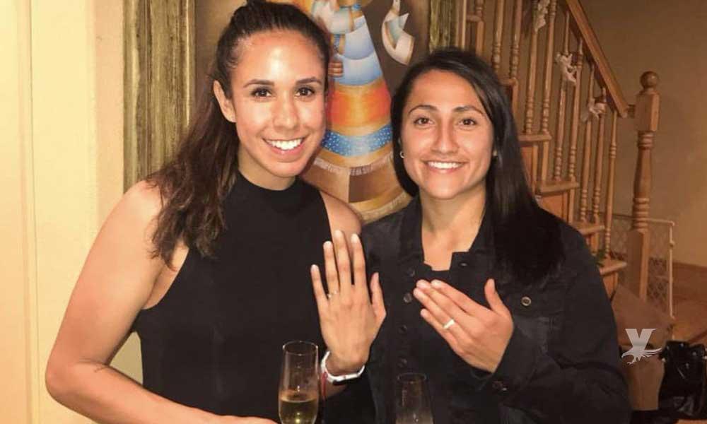 Seleccionadas mexicanas se comprometen en matrimonio