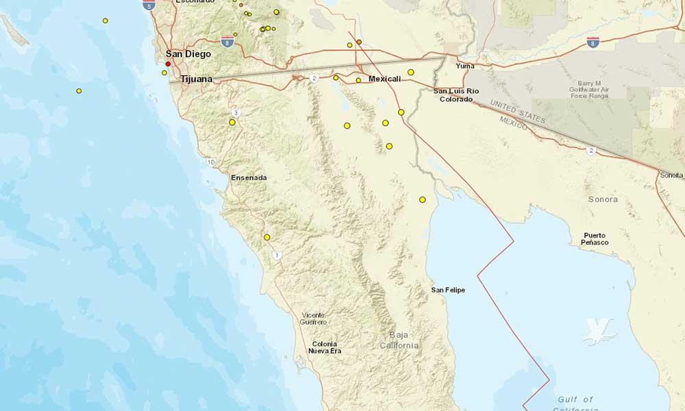 30 sismos se han presentado en Baja California en los últimos seis días