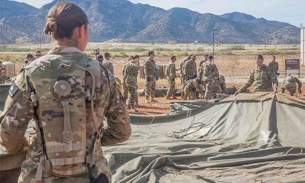 Primeras 100 tropas estadounidenses llegan a la frontera sur