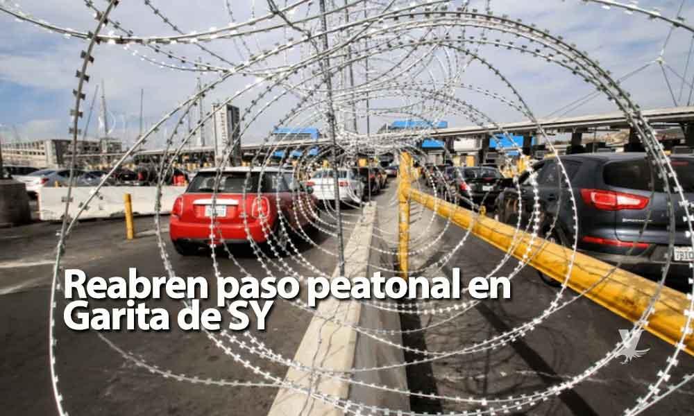 Reabren paso peatonal en Garita de San Ysidro