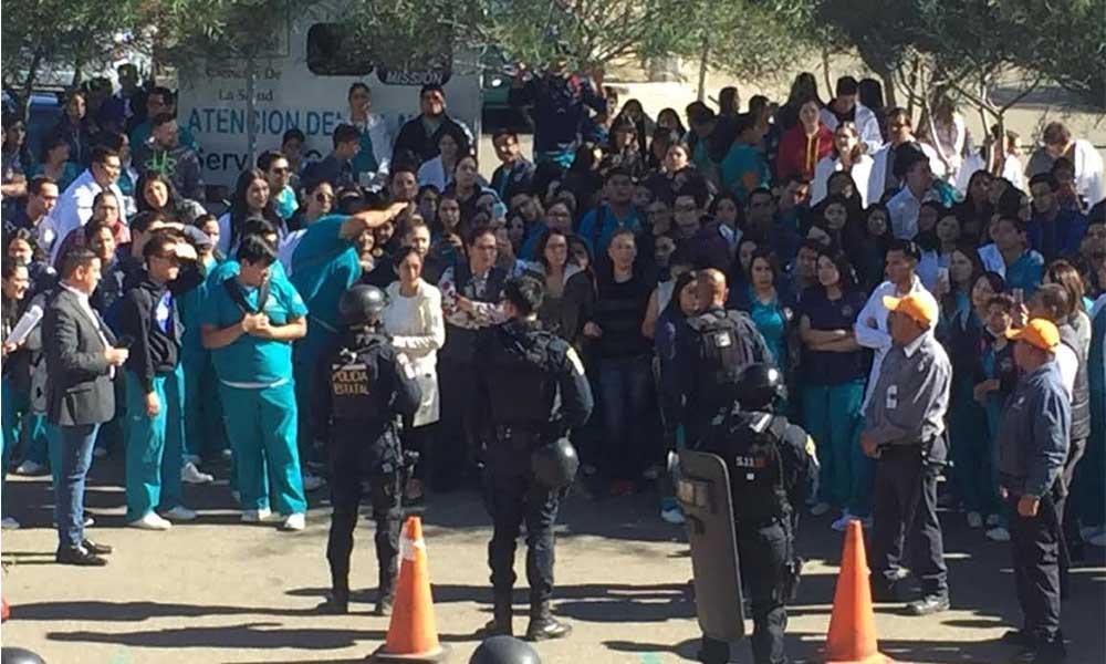 Simulacro de tiroteo en campus UABC de Valle de de las Palmas