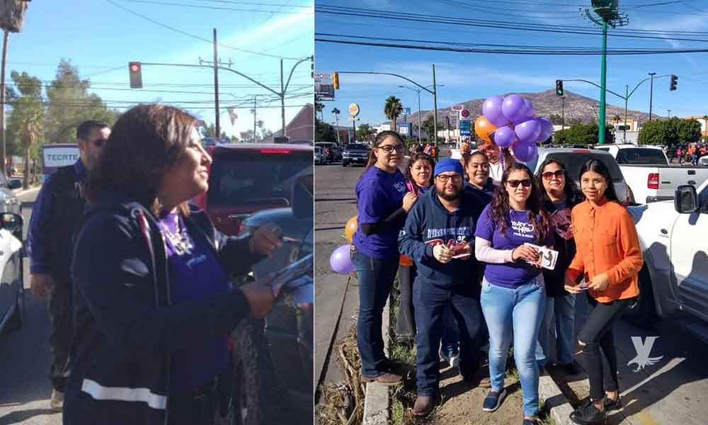 En el Día Internacional de la No Violencia promueven campaña de sensibilización en Tecate