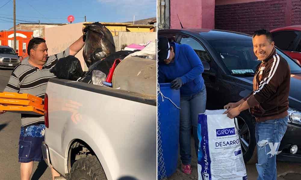 Alcaldesa encabeza recolección de basura en Tecate