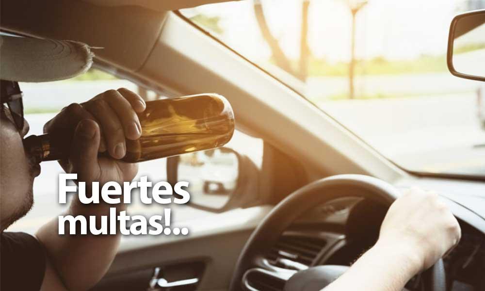 Multas hasta de 8 mil pesos por conducir 'ebrio' en año nuevo