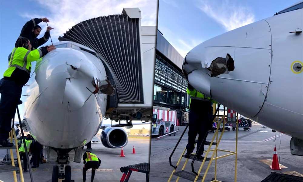 Dron causa daños a Avión de Aeroméxico en Tijuana