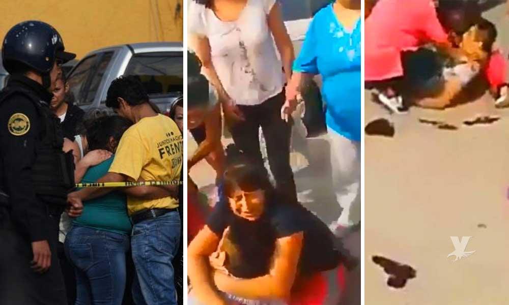 (VIDEO) Familiares lloran el cuerpo de ladrón abatido por policía, segundos después de realizar un asalto