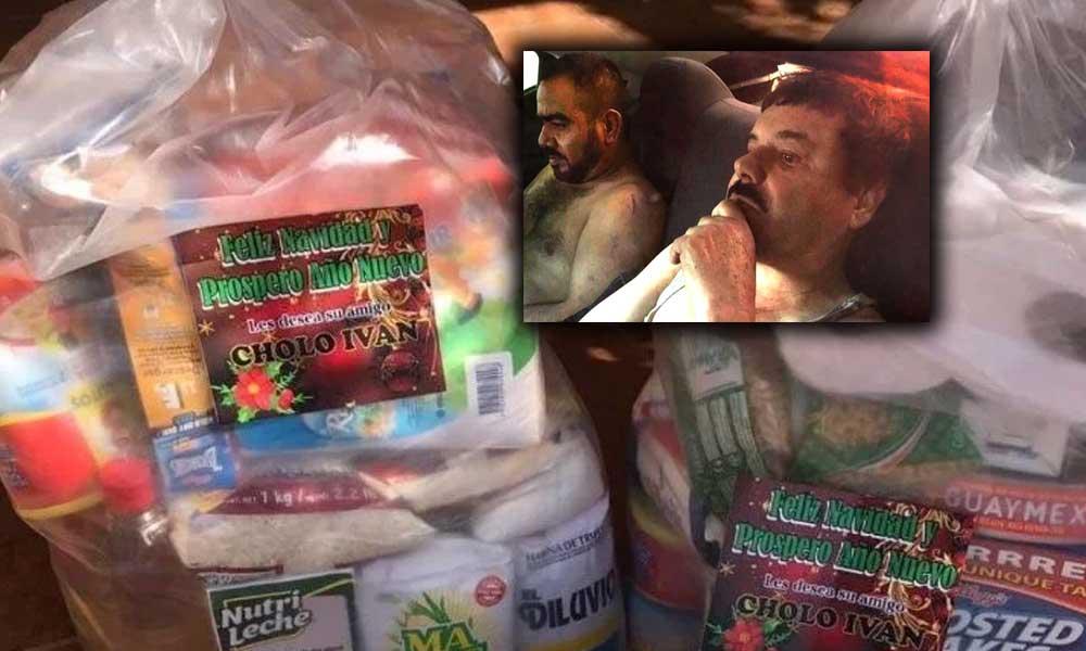 """""""El Chapo"""" y """"Cholo Iván"""" mandaron despensas Navideñas a comunidades en Sinaloa"""