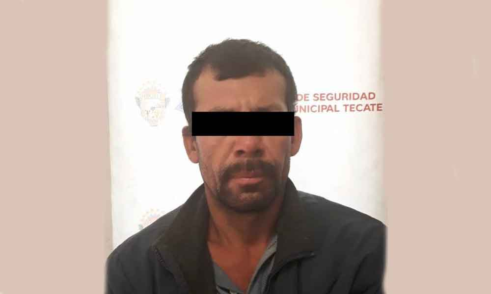 Policía Municipal de Tecate captura a hombre con orden de prehensión por homicidio
