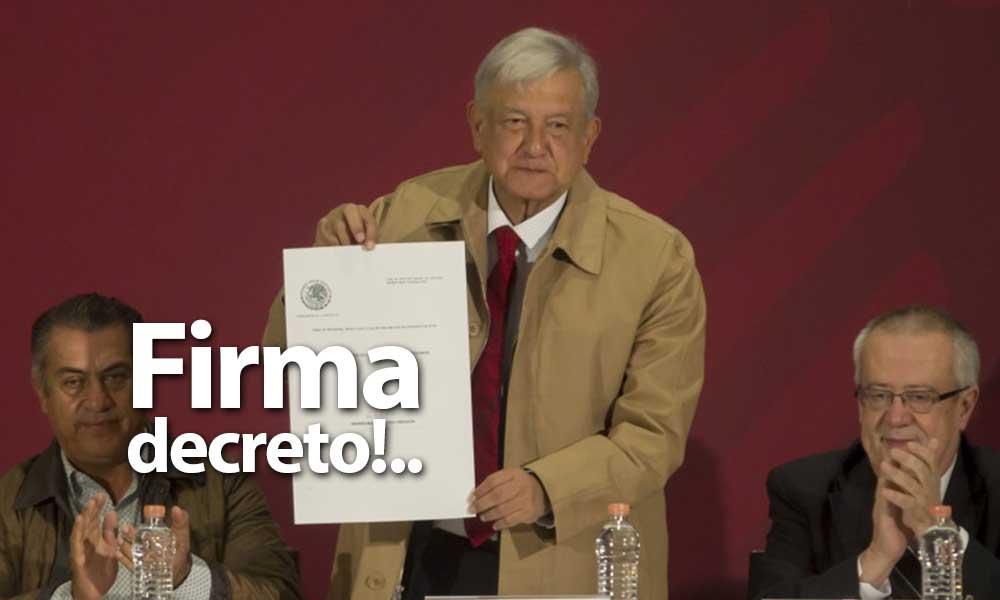 Es oficial, AMLO firma decreto para bajar el IVA del 16% al 8% y salario mínimo al doble en la frontera