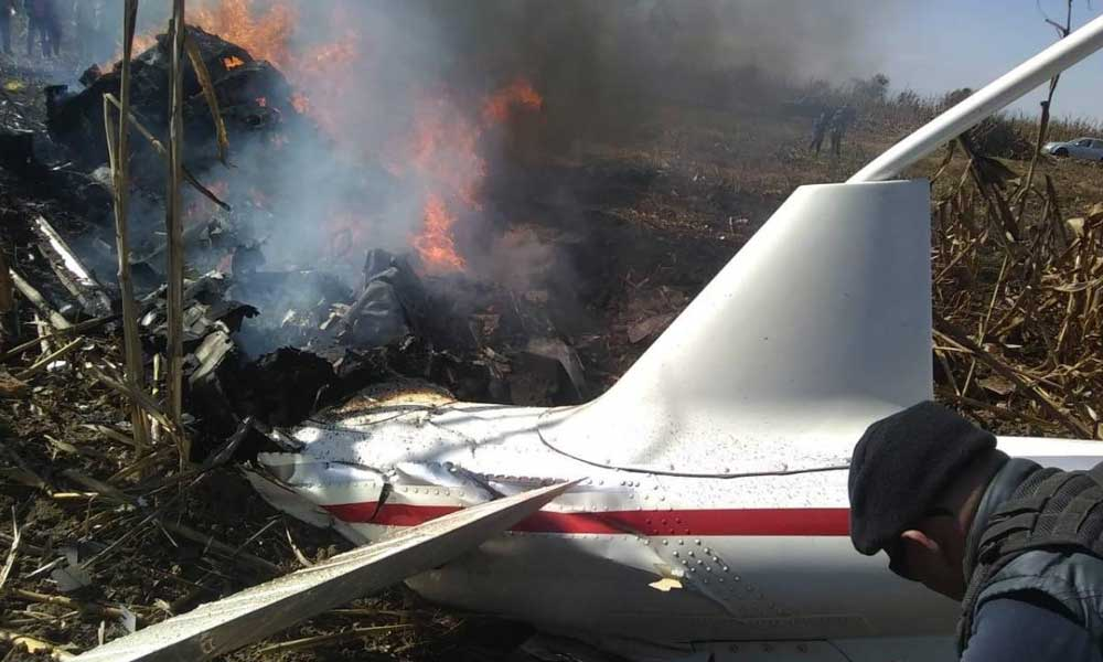 (VIDEO) Primeros momentos de la caída del helicóptero donde murió la Gobernadora de Puebla