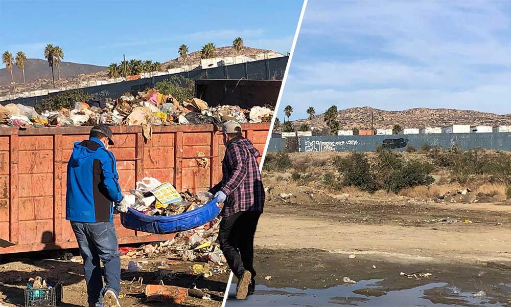 Entre ciudadanos y empresarios dejan libre de basura el Río Tecate