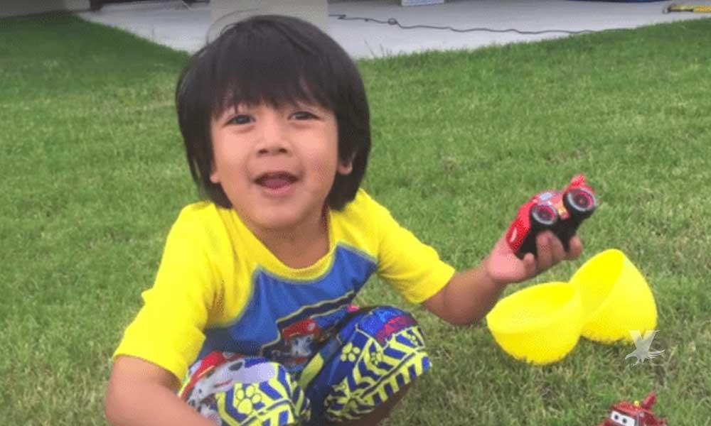 Tiene 8 años y se volvió millonario gracias a Youtube