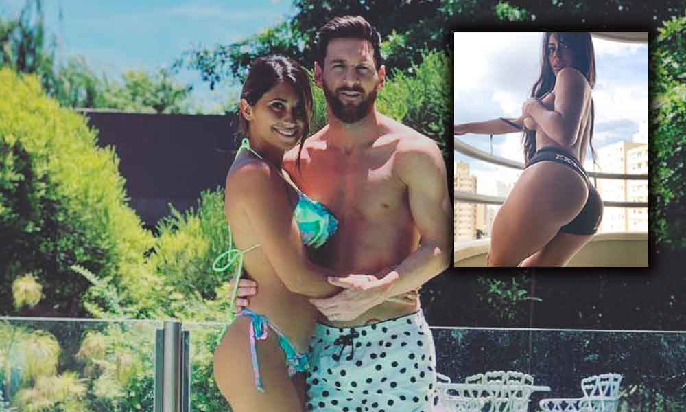 Suzy Cortez arruina fotografía de Messi y su esposa el enviar 'candente' imagen al futbolista