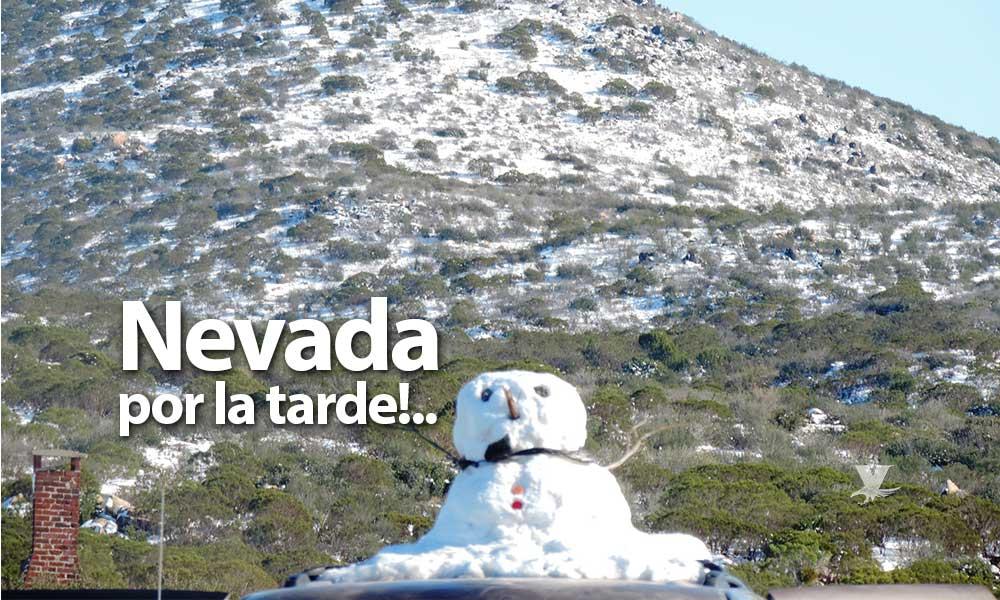Pronostican nevada para el Hongo y la Rumorosa en Tecate