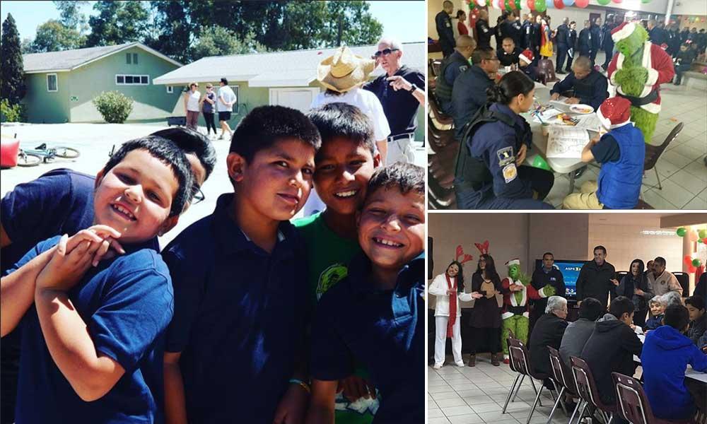 Conviven Sosa Olachea y Cadetes de la ASPE con niños de Orfanatorio Nazareth en Tecate