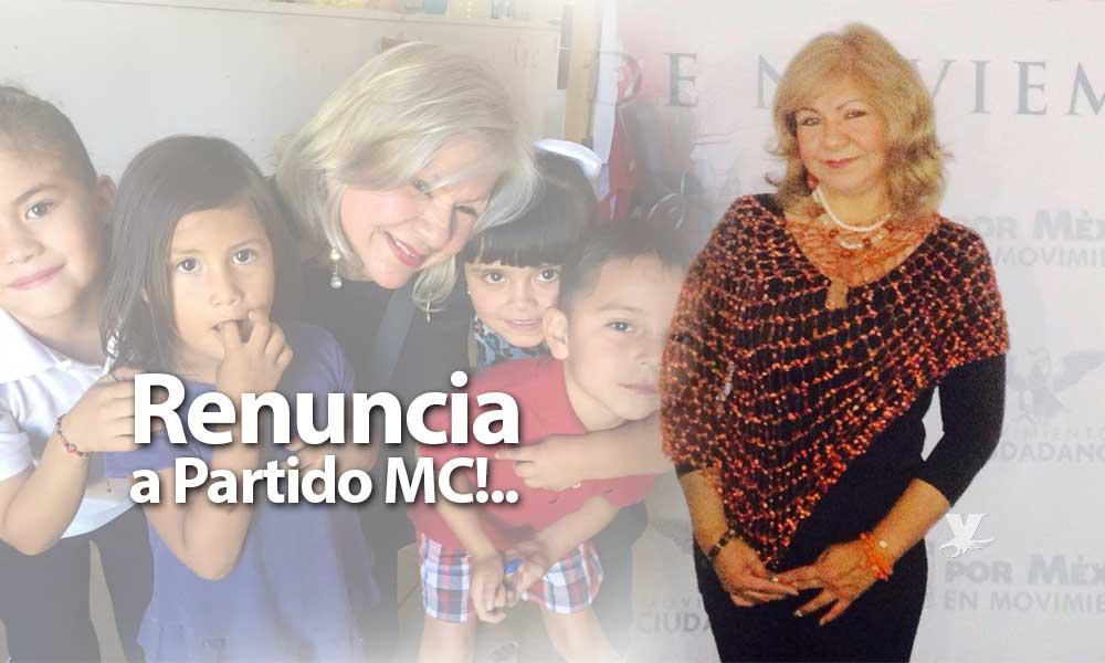 Renuncia Marina Calderón a Partido Movimiento Ciudadano en Tecate