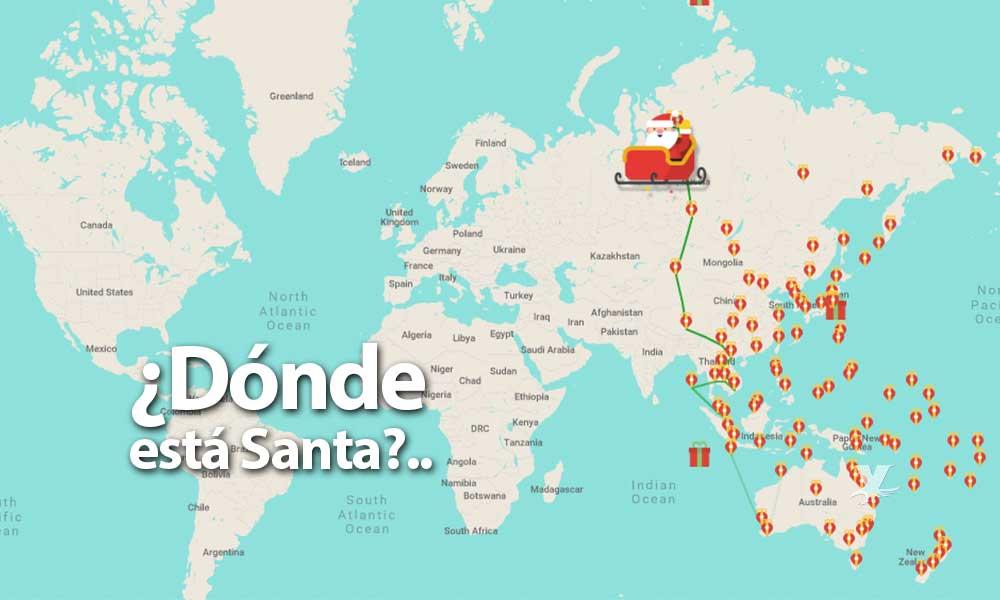 ¿Dónde está Santa? Sigue en tiempo real su viaje alrededor del mundo con 'Santa Tracker'