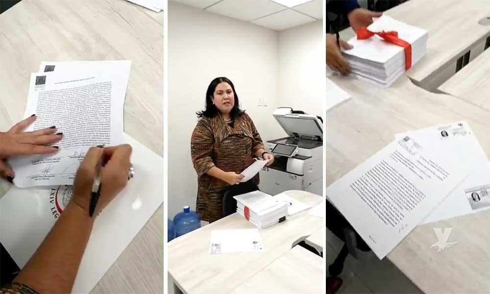 (VIDEO) Senadora presenta denuncia de Juicio Político en contra de Kiko Vega