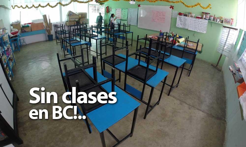 Se suspenderán clases miércoles y jueves en Baja California: SNTE