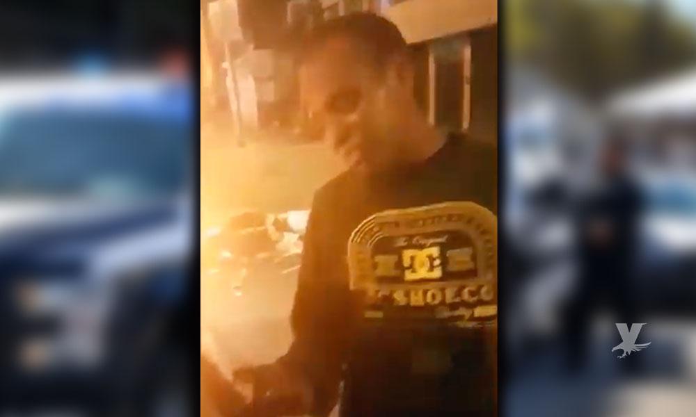 (VIDEO) Hombre denuncia estafa ante la policía, pidió cocaína y le dieron harina