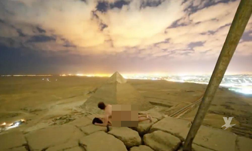 (VIDEO) Pareja se graba teniendo relaciones en la gran pirámide de Guiza
