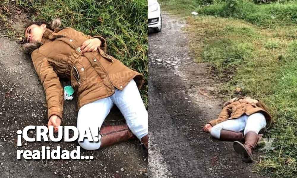 Amigos la abandonaron en la orilla de la carretera porque creían que había muerto