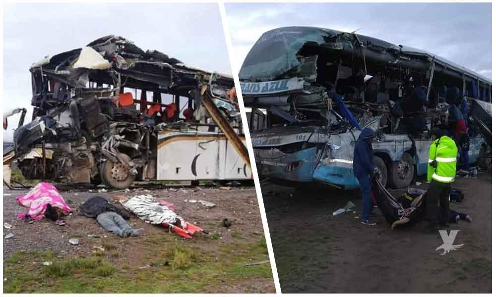 Choque entre autobuses deja 22 muertos y 31 heridos