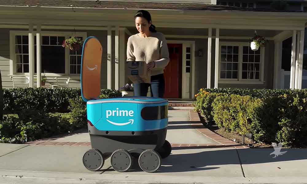 "(VIDEO) Amazon presenta a su nuevo empleado ""Scout"" un robot repartidor"
