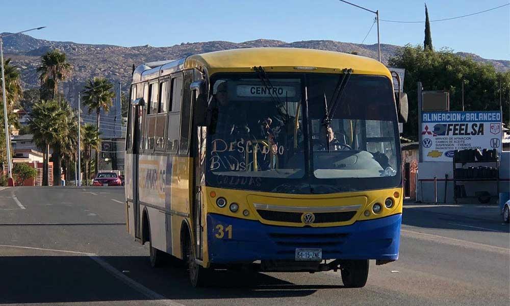 No hubo aumento al transporte público en Tecate
