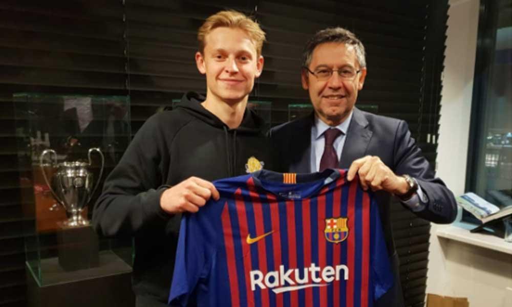 Barcelona anuncia el fichaje de Frenkie de Jong proveniente del Ajax