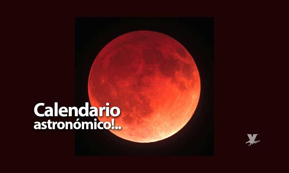 Una 'Súper Luna de Sangre' y cinco eclipses, entre los eventos astronómicos este 2019