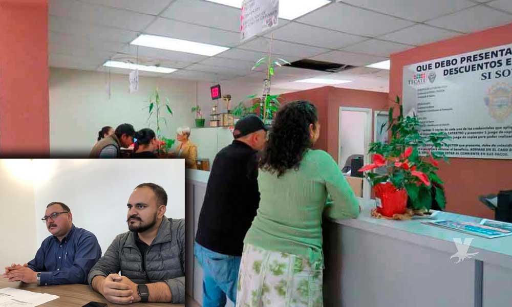 Tramite de impuesto predial se realizará en Canaco Tecate
