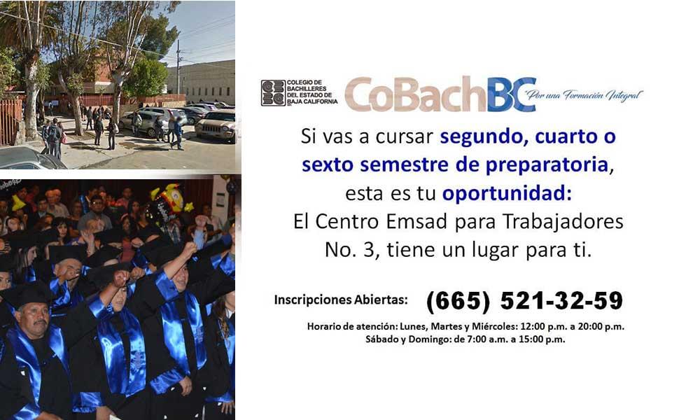 Abre Cemsad inscripciones de preparatoria para Trabajadores en Tecate