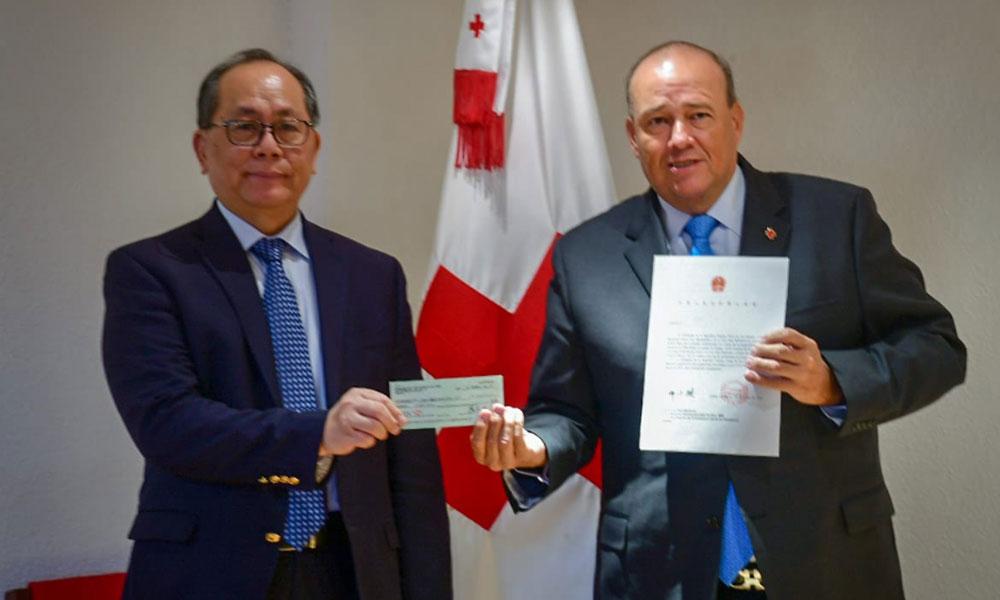 Cruz Roja China donó 100 mil dólares a México para atender a los afectados por la explosión en Hidalgo