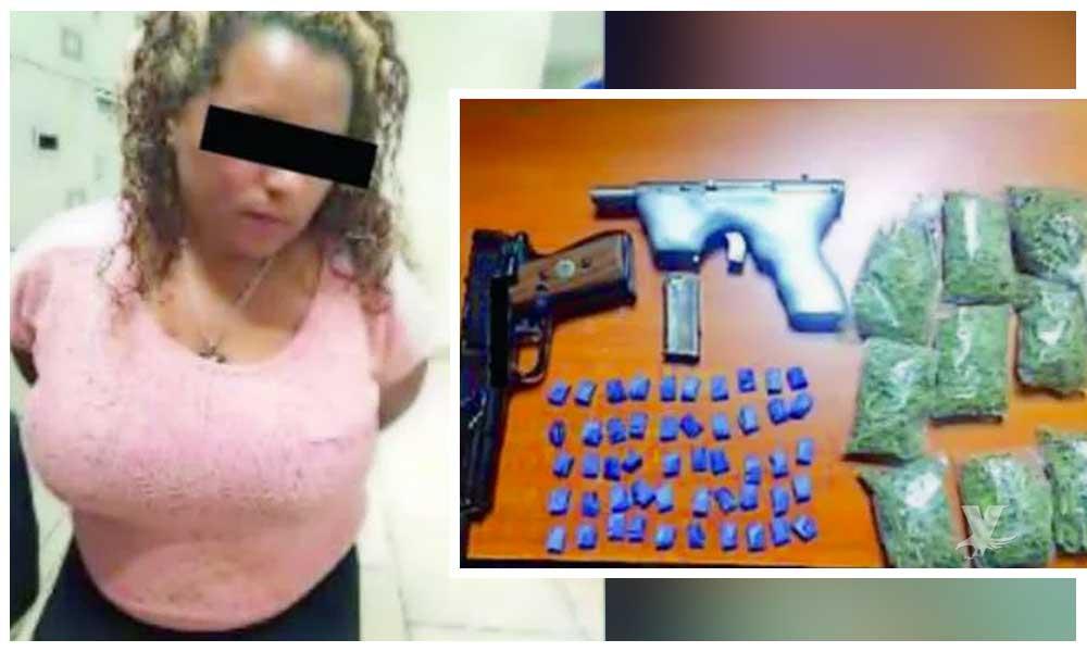 Hondureña perteneciente a la 'Caravana Migrante' es detenida con drogas y armas en la CDMX