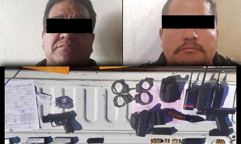 Detienen en Tecate a 2 hombres por portación de arma de fuego e identificaciones falsas
