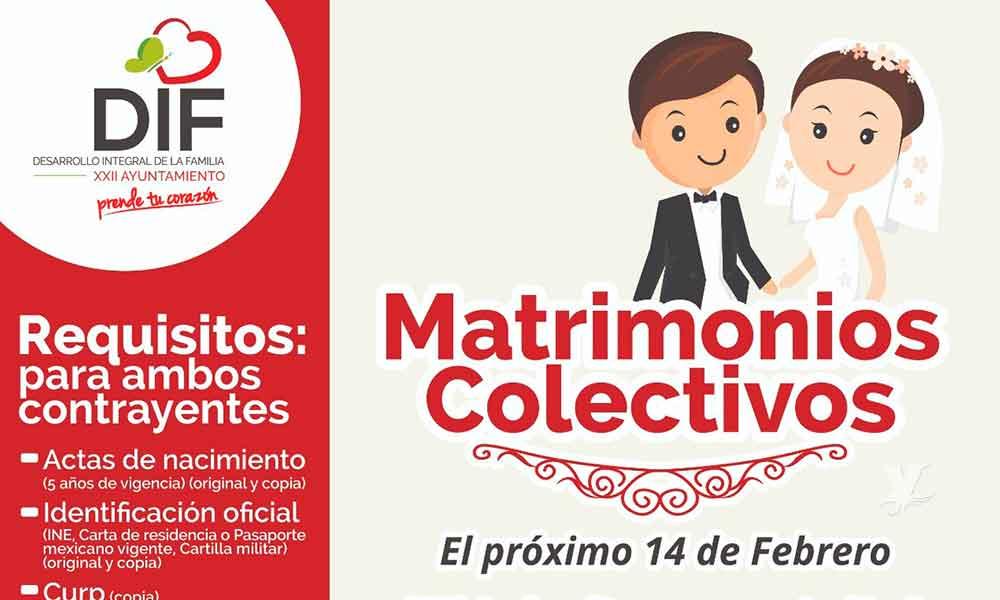 DIF Tecate invita a la comunidad a casarse en los Matrimonios Colectivos totalmente gratis