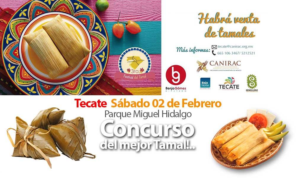 Todo listo para la tercera edición del 'Festival del Tamal' en Tecate ¡Habrá concurso del mejor tamal!