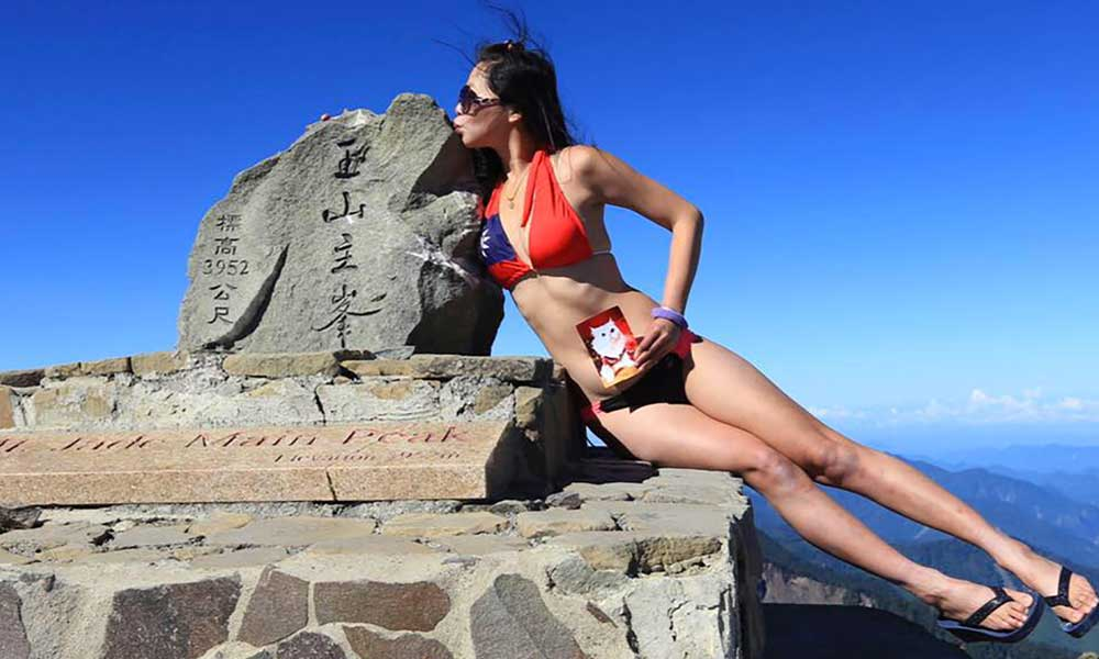 Muere de hipotermia Gigi Wu, la famosa 'escaladora en bikini'