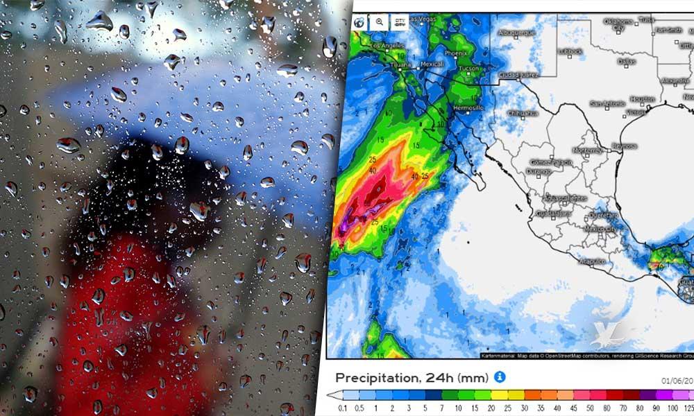 Lluvia en las próximas horas en BC, por la tarde de este sábado y domingo por la mañana
