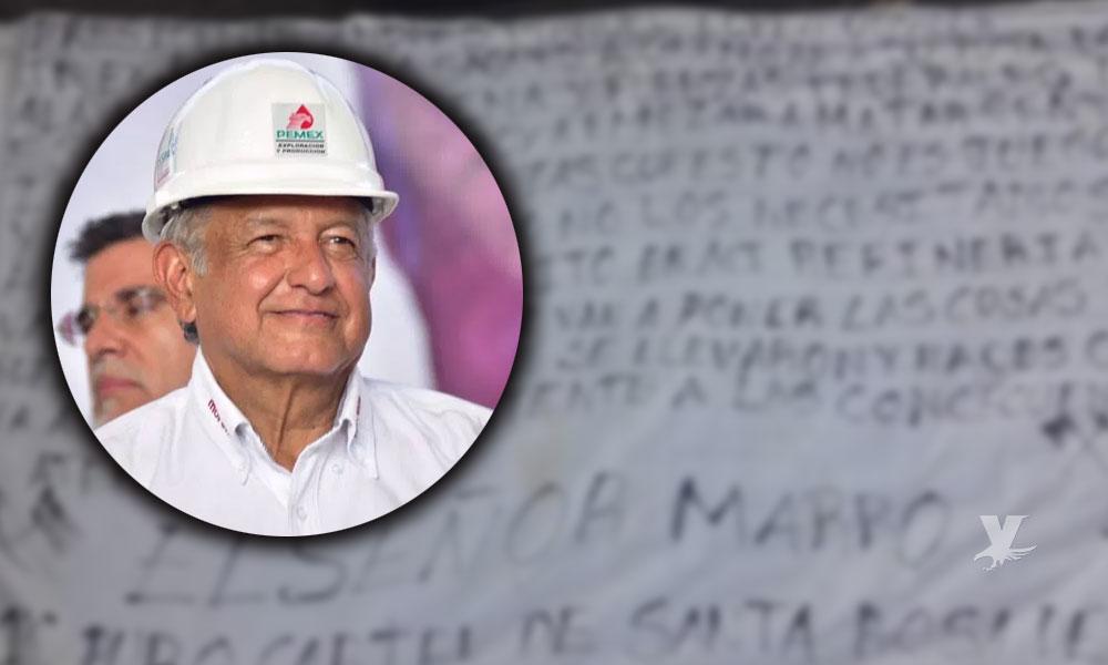 Dejan 'narcomanta' contra AMLO en Guanajuato