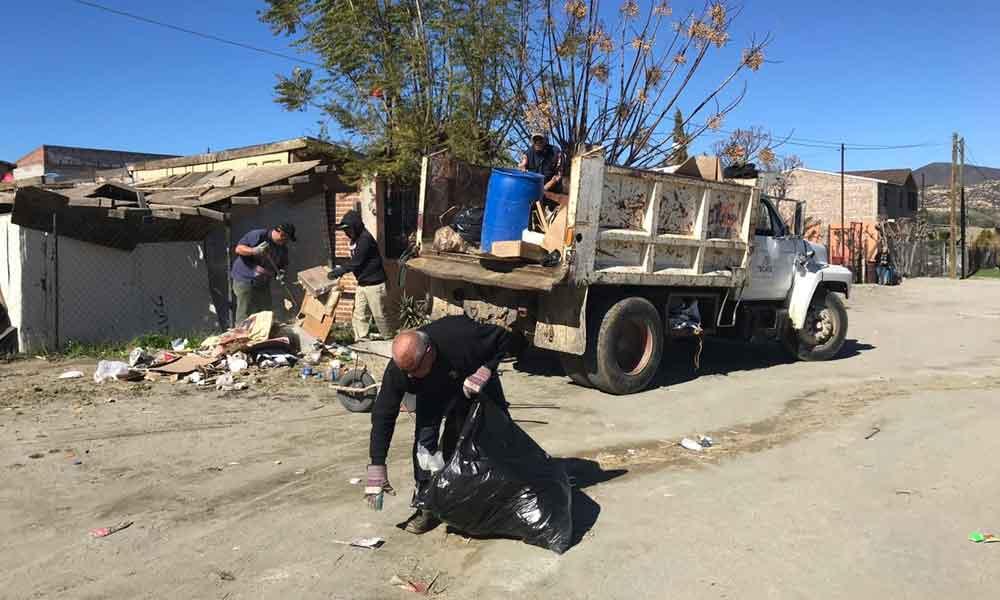 Obras Públicas intensifica labores en puntos clave de Tecate