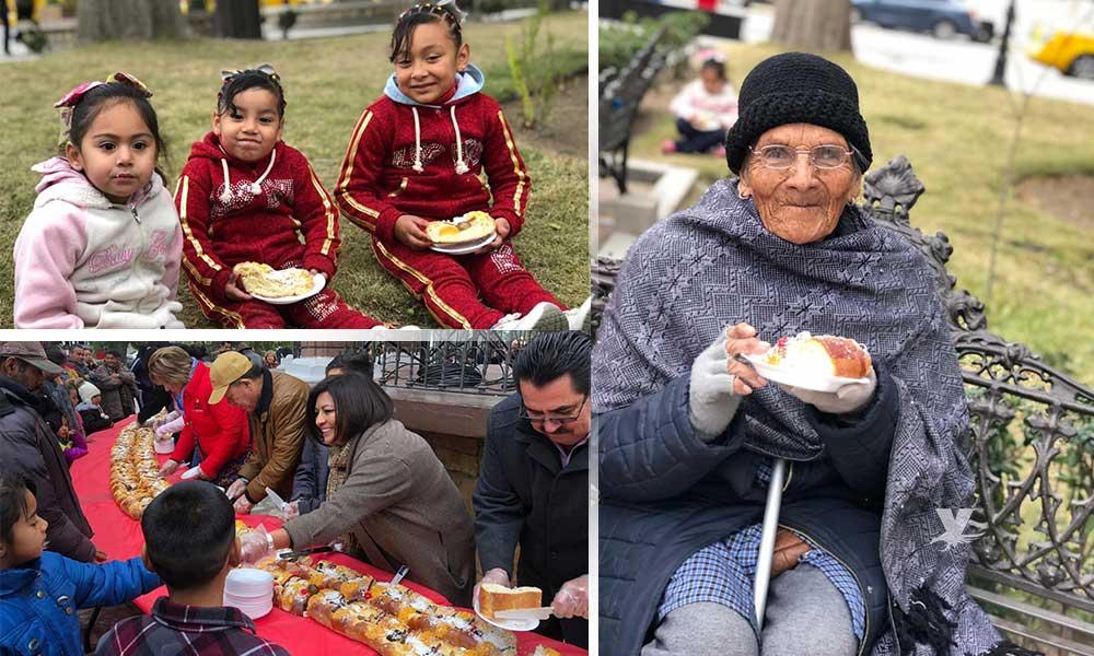 Celebran la llegada de los Reyes Magos con la tradicional rosca gigante en Tecate