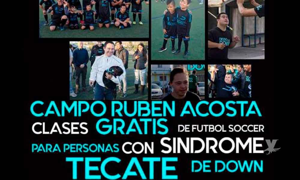 """""""Diestro Soccer Down"""" llega a Tecate para dar clases gratis de fútbol a las personas con Síndrome de Down"""