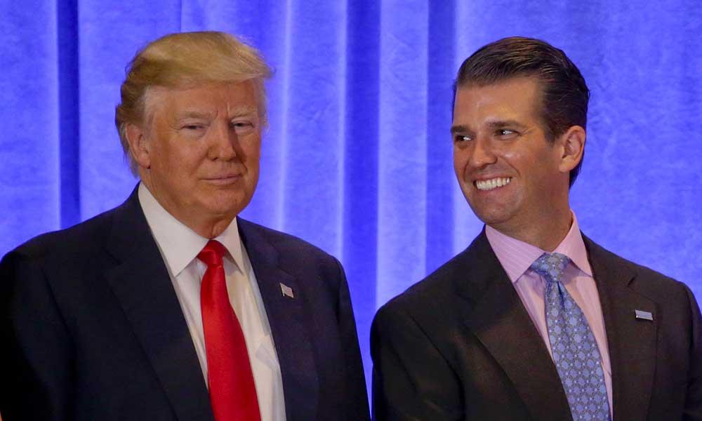 Hijo de Donald Trump compara a los migrantes con los animales de un zoológico